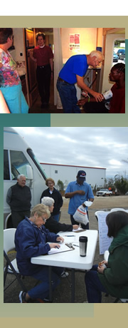 images of St. Luke's Episcopal Medical Ministry volunteers and clients in Louisiana.