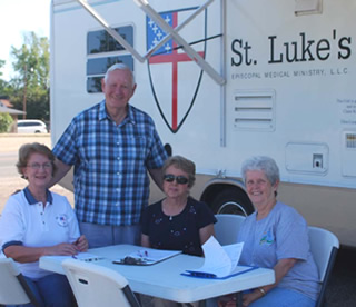 St. Luke's mobile medical van in Louisiana.